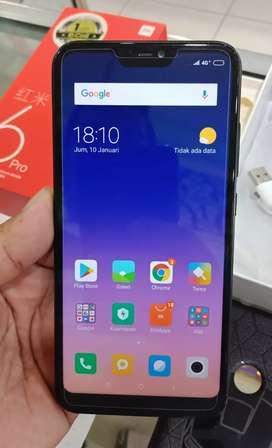 Xiaomi Redmi 6 Pro RAM 4/32 Black LENGKAP Fullset Asli Mesin Segel