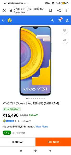 Vivo y31 seal pack with one year insurance