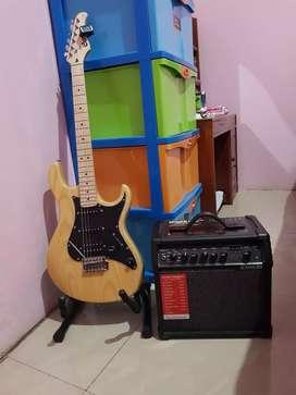 gitar elektrik ori cort g200dx + ampli line 6 spider v20