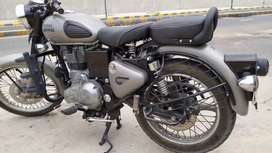 Royal Enfield classic 350 in Matt silver and double dish break 2018