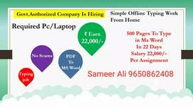 Home base data entry part time job