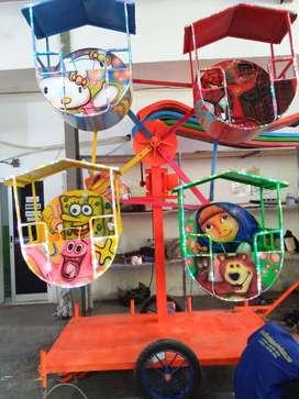 Pusat Pabrik Kincir mini isi 4 Komedi Putar Odong odong2 Kereta mini