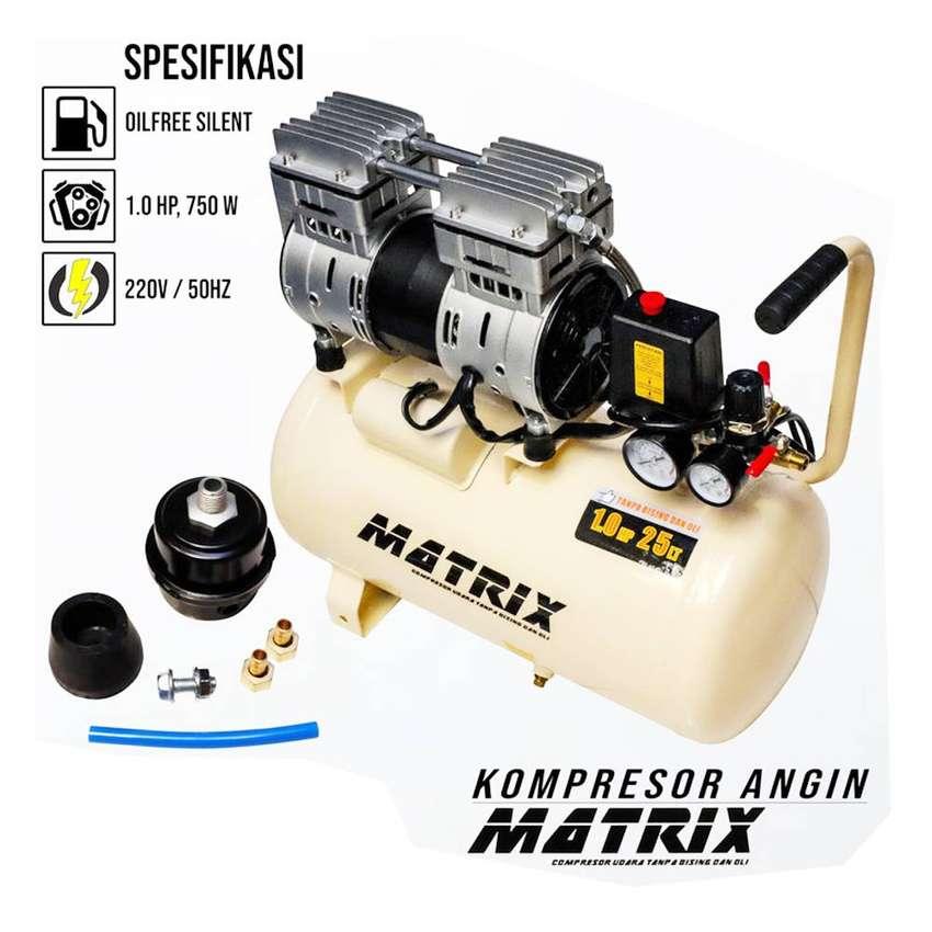 MATRIX 1 HP 25 Liter OIL LESS AIR COMPRESSOR - KOMPRESOR ANGIN 25liter 0