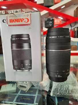 Canon 75.300 used lens good condition