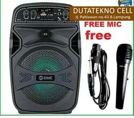Speaker GMC bisa bluetooth dari hp (bonus mic), speker karaoke karoke