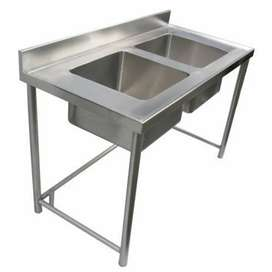 Stainless Steel commercial Twin Sink