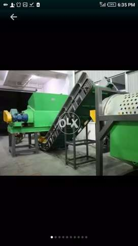 PET Bottles Recycling plants and heavy machinry