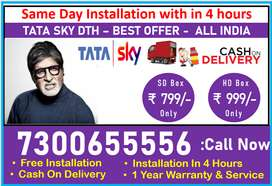 Best DTH Tata sky Airtel Tv Tatasky SD/HD New COnnection Book Now HD!!