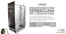 Mesin steamer makanan, alat kukus roti brownies dimsum nasi pontianak