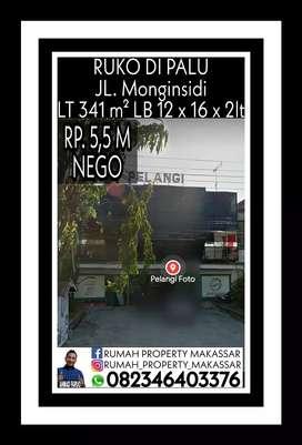 RUKO DI PALU JL. Monginsidi LT = 341 m².  LB = 12 x 16 x 2lt
