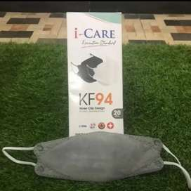 Gratis Antar - 20pcs/Box Masker KF94 / KF 94 i Care Earloop ABU-ABU