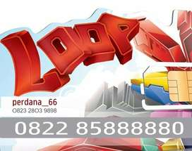 SimPATI LOOP888880CANTIK Nomer Nomor Kartu Perdana xl11ipaky10im3digit