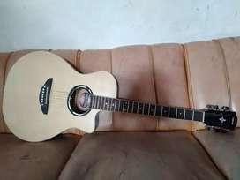 Gitar Akustik Natural dan Hitam Buram
