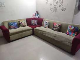 2 year old sofa with cushion and 6 month old cupbord ln