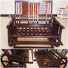 Rocking Chair 2 Seater Wooden
