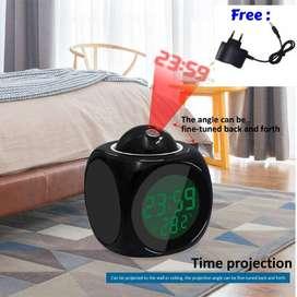 Jam Proyektor Weker Beker Alarm Digital Alarem Thermometer