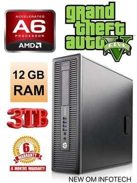 12GB RAM/3TB HDD/HP AMD A6 GAMING CPU/USB 3.0/RADEON R5 GRAPHICS
