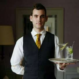Waiter jobs in five star hotels Daily cash payment