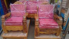 assam teak wood 5 seater wooden sofa set with qushan free delivery ban