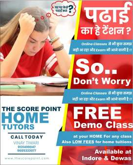 Need teachers for online as well offline Home tuitions