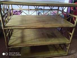 Bamboo wood shelf / table