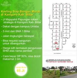 BU Dijual Tanah Kavling Murah Siap Bangun di Kanigoro Blitar