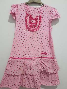 Dress anak perempuan Barbie uk 8th