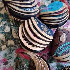 Souvenir Dompet Oval Koin Batik murah_Rizky Souvenir