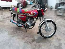 Honda 125 model 2017 complete documents file by hand Rs.90,000