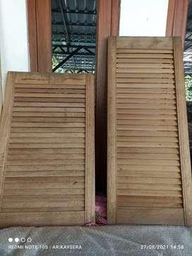 Daun jendela Krepyak Jalusi Tanam Kayu Meranti Merah Kalimantan