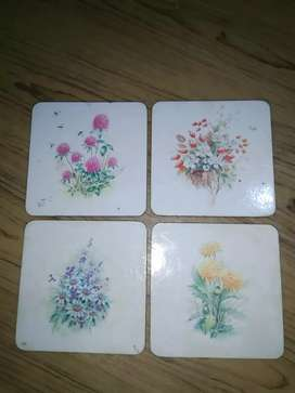 Eight Coasters for cups to prevent table from a tea or drink spill