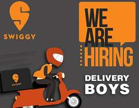 Requirement for SWIGGY DELIVERY EXECUTIVES (Earn up to Rs. 15000/- PM)