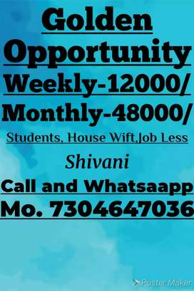 Home based job available here