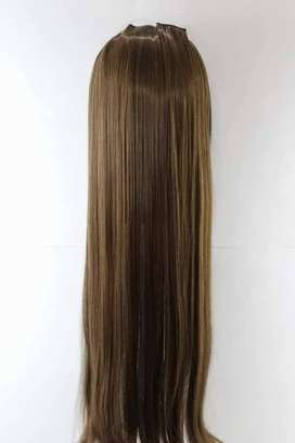 Hair ~5 Clips One Piece Straight Synthetic Hair Extensions