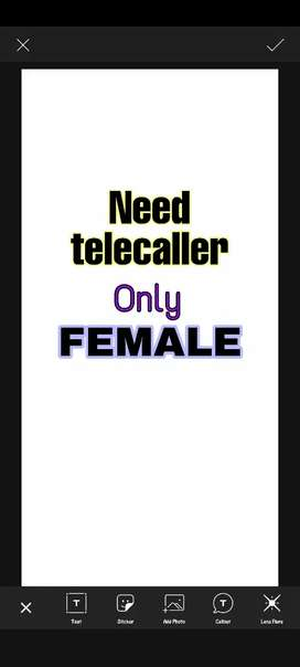 Need telecaller only female