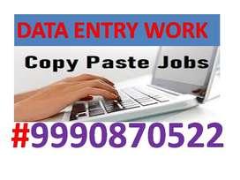 Online/Offline Data entry JOB Part time work Home Based Job Typing Job