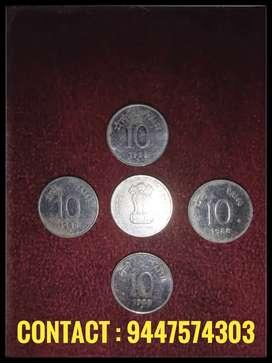 10 paise old coin(5 Nos)