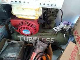 Kompresor angin bensin 1/4 pk siap pakai