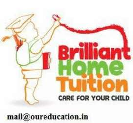 Home Teacher available from class 1 to 8