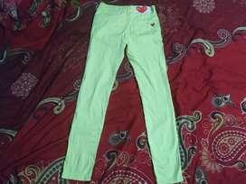 Celana panjang Play cdg comme des garcon soft jeans yellow volt BNWOT