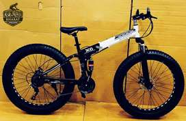 FOLDABLE FAT TYRE CYCLE WITH 26*4 INCH WHEELS AND 21 SPEED GEARS