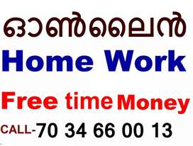 Online Home Work, MONEY FREE Time Earning
