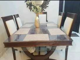 Slightly used 6 chair dining table