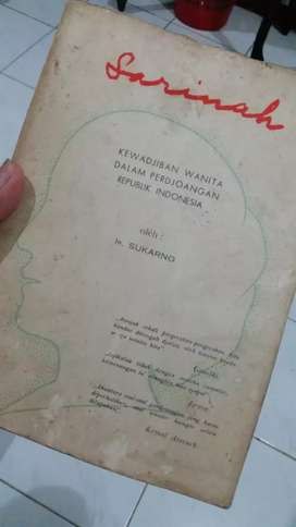 SARINAH - Ir. Soekarno cetakan ketiga ejaan lama koleksi istimewah