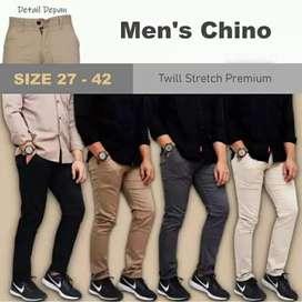Celana Chino Chinos Pants Skinny fit Aneka Warna Size 27-45