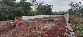 Dijual Tanah Kebun Datar 758m Pinggir Jalan Aspal Berpagar Panel Beton