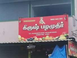 Newly open fruit shop