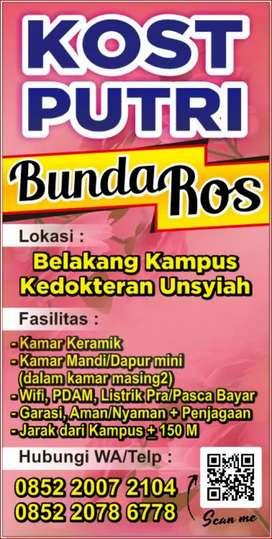 Disewakan Kamar Kos Putri Dekat Kampus Unsyiah Darussalam Banda Aceh