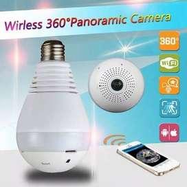 CCTV PANORAMIC CAMERA IP SPC - IP Camera CCTV Bulb WiFi Panoramic