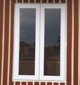 Jendela Buka 2 Daun UPVC
